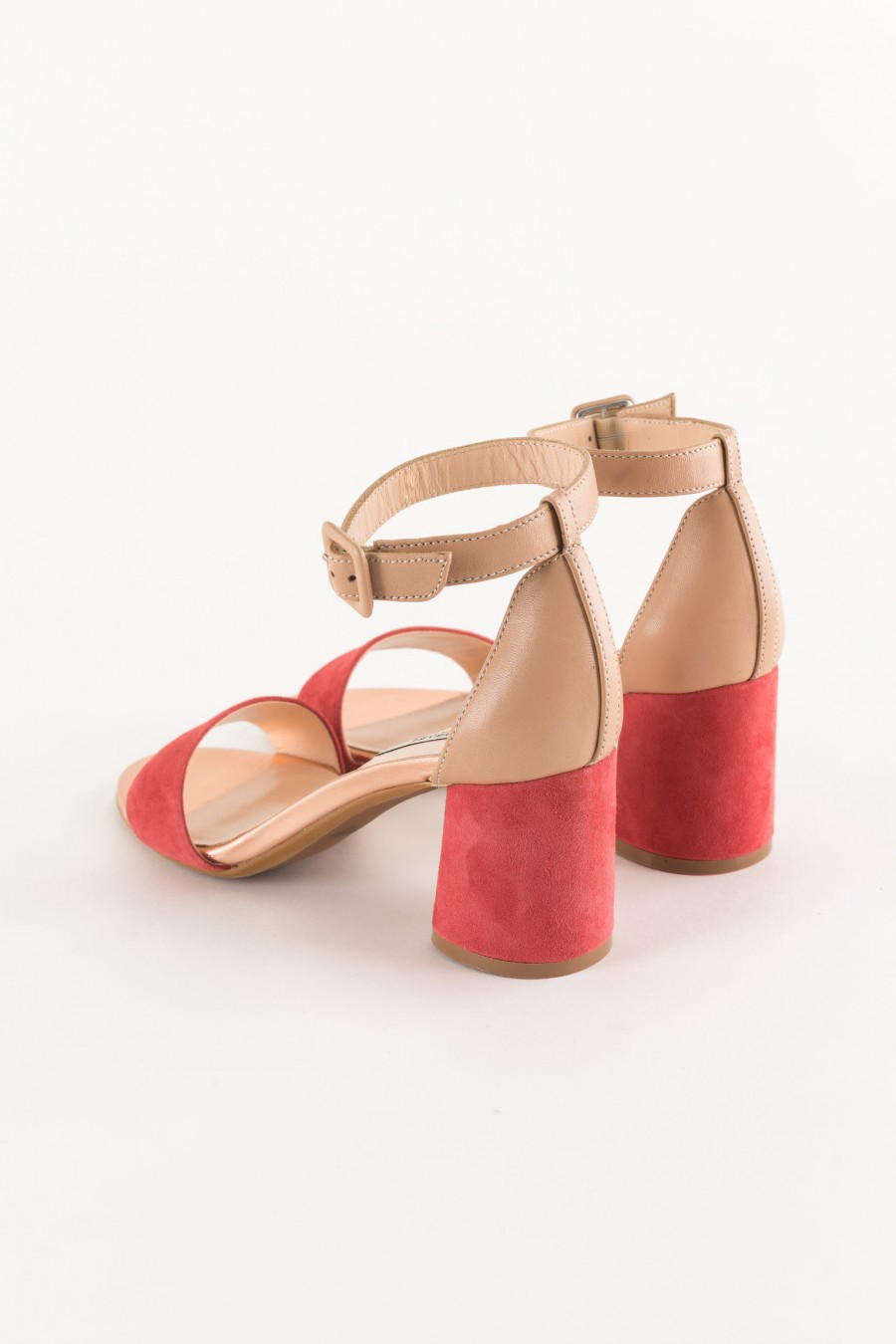 two-tone sandal with strap