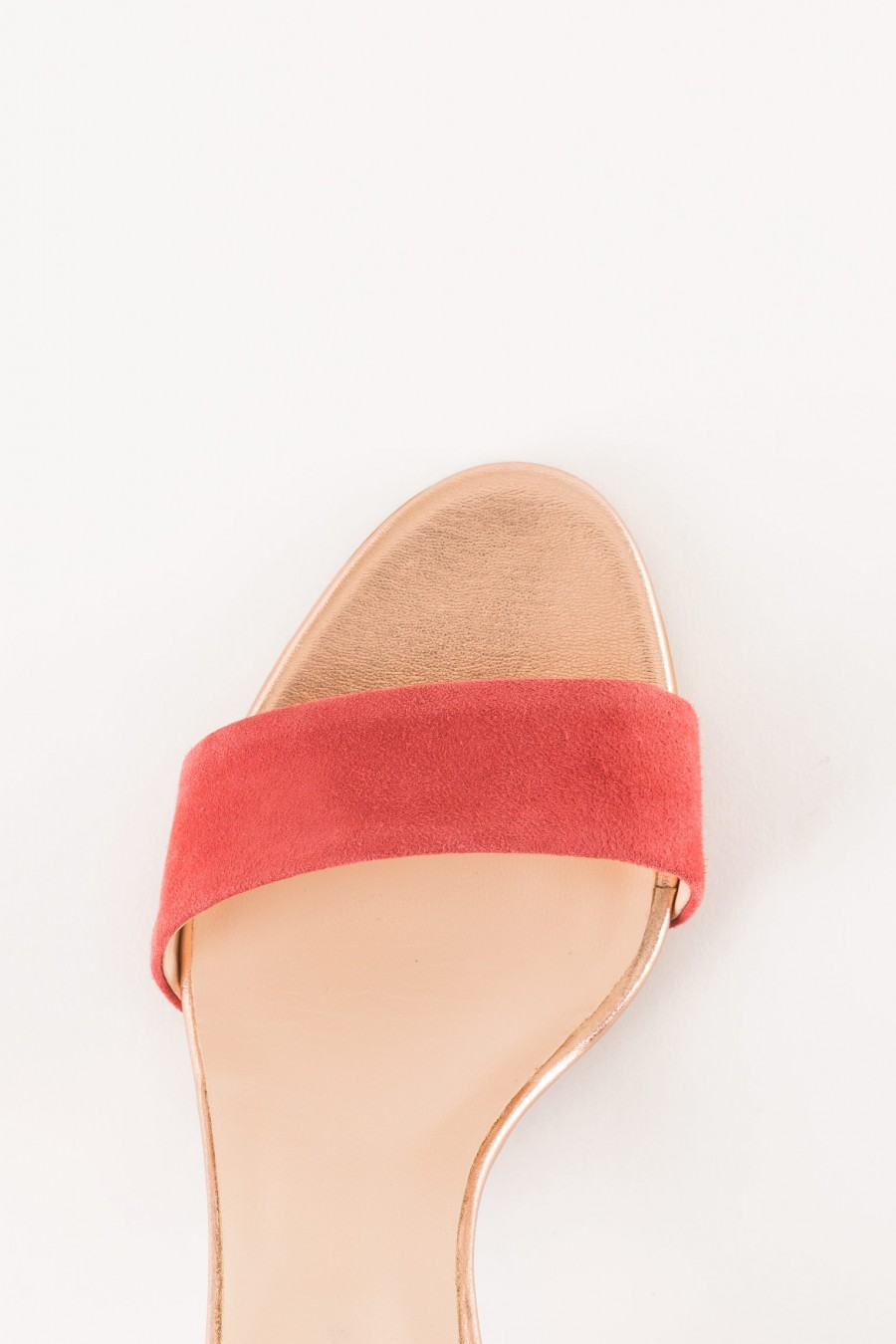 lobster colored ceremony sandal