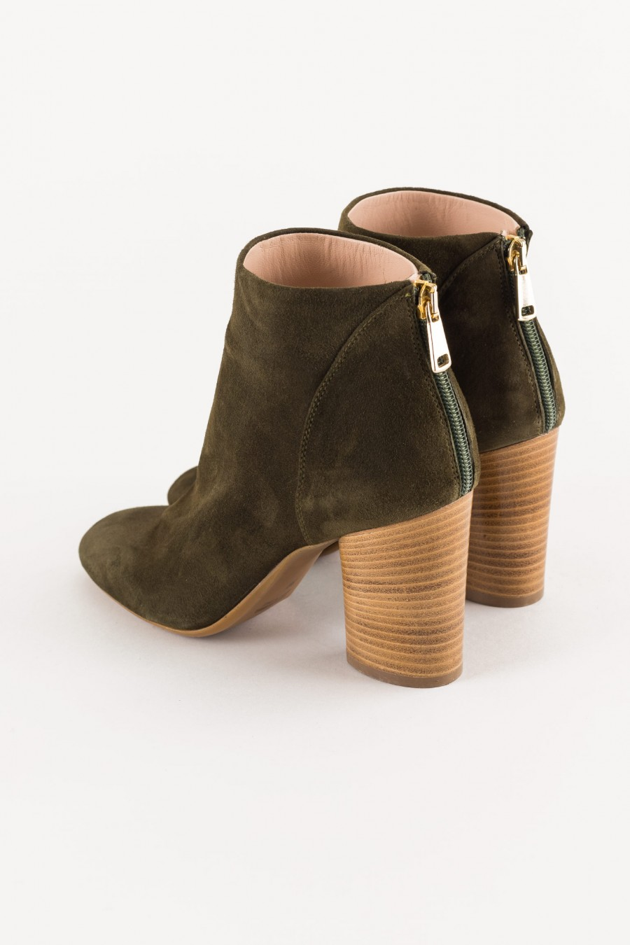 wooden heel boot