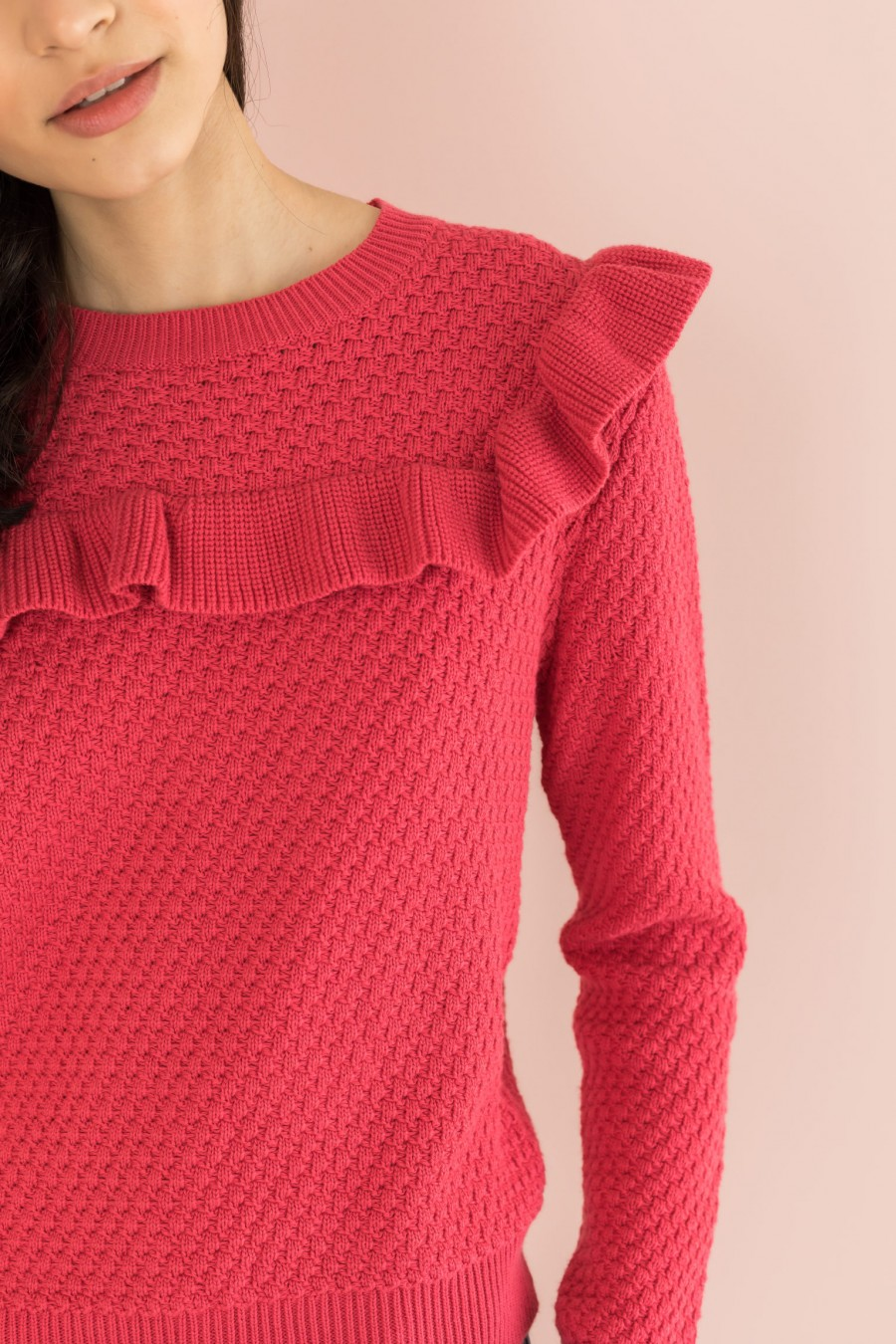 cyclamen cotton sweater