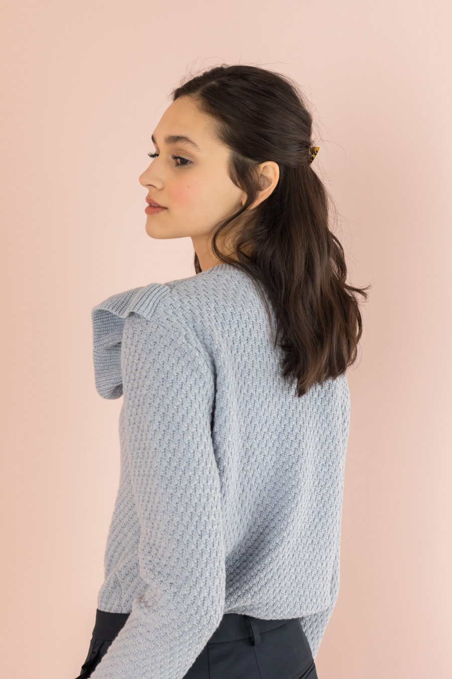cotton ruffle sweater
