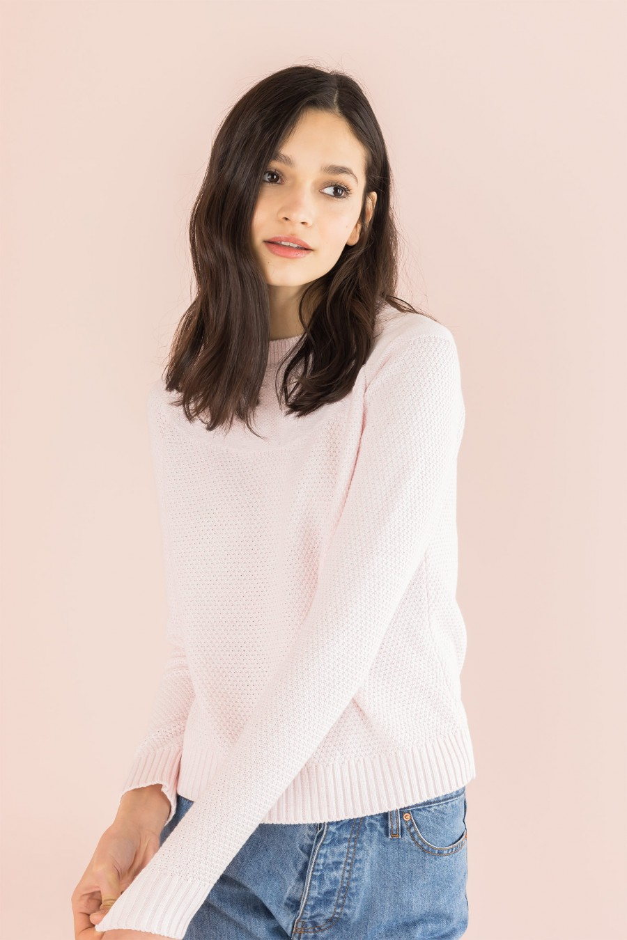 sweater with yoke