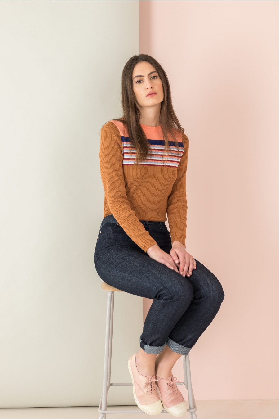 long sleeves shirt with yoke