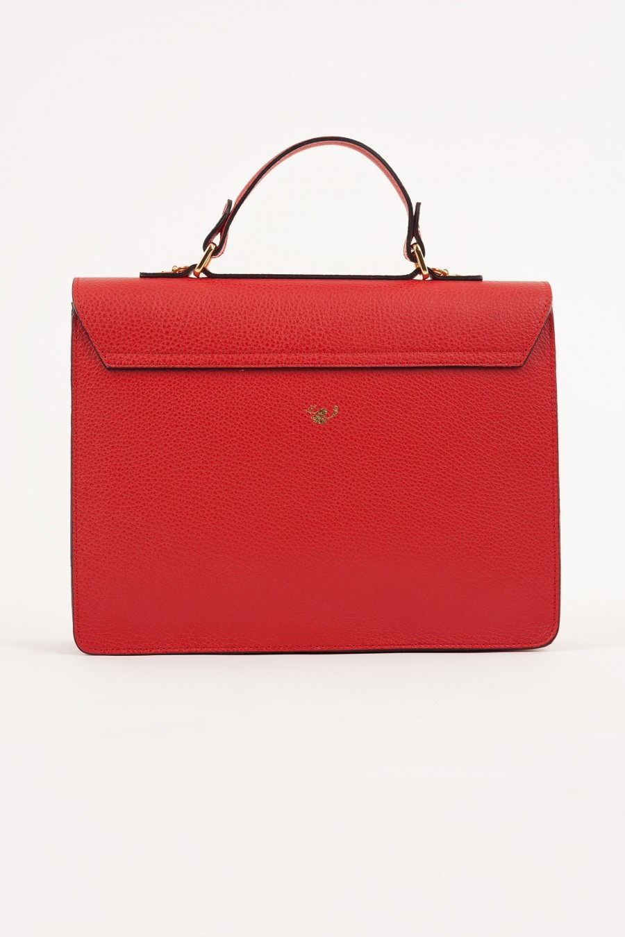 lazzari red briefcase