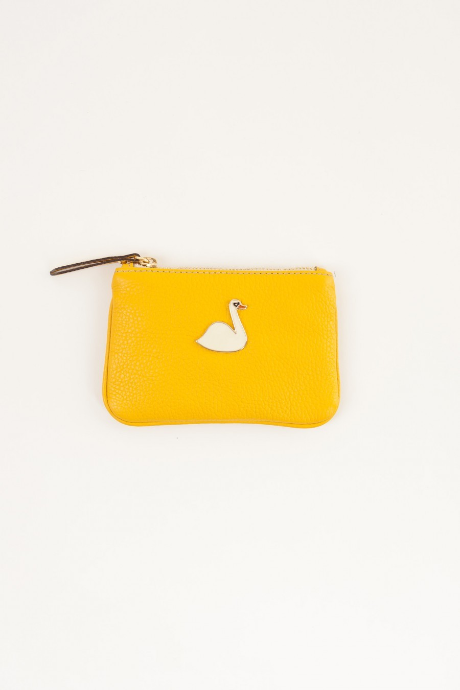 Leather coin purse swan