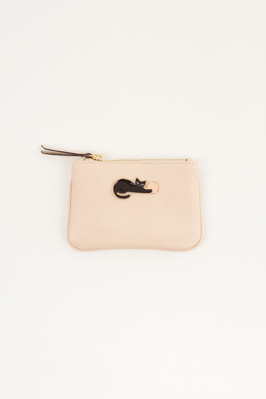 Mini leather case cat pale pink