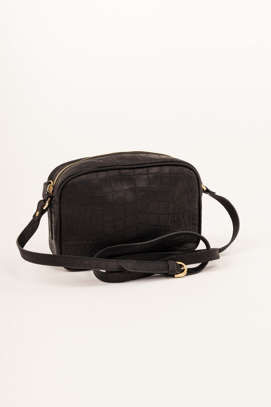 black bag crocodile print