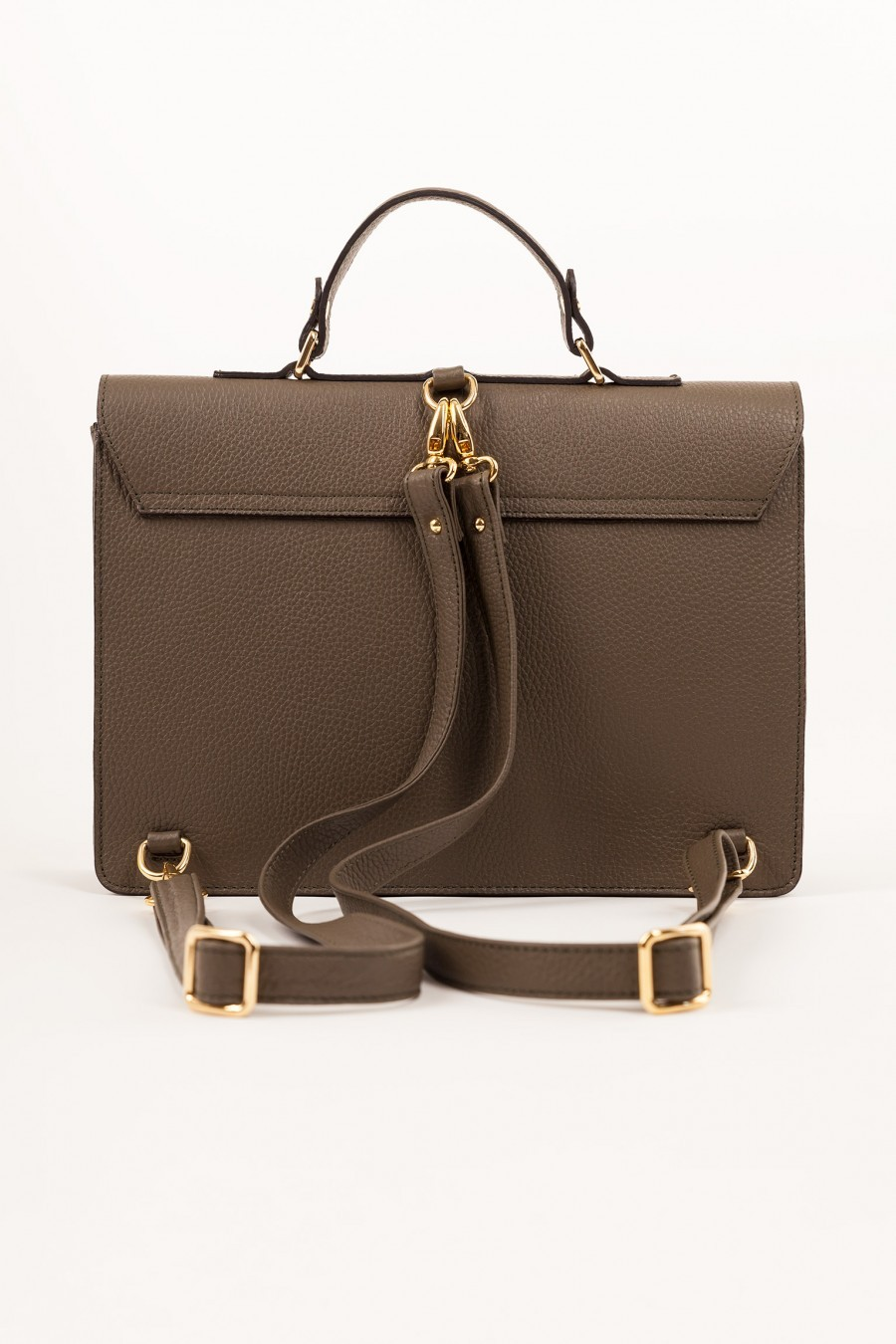 leather bag lazzari military strap
