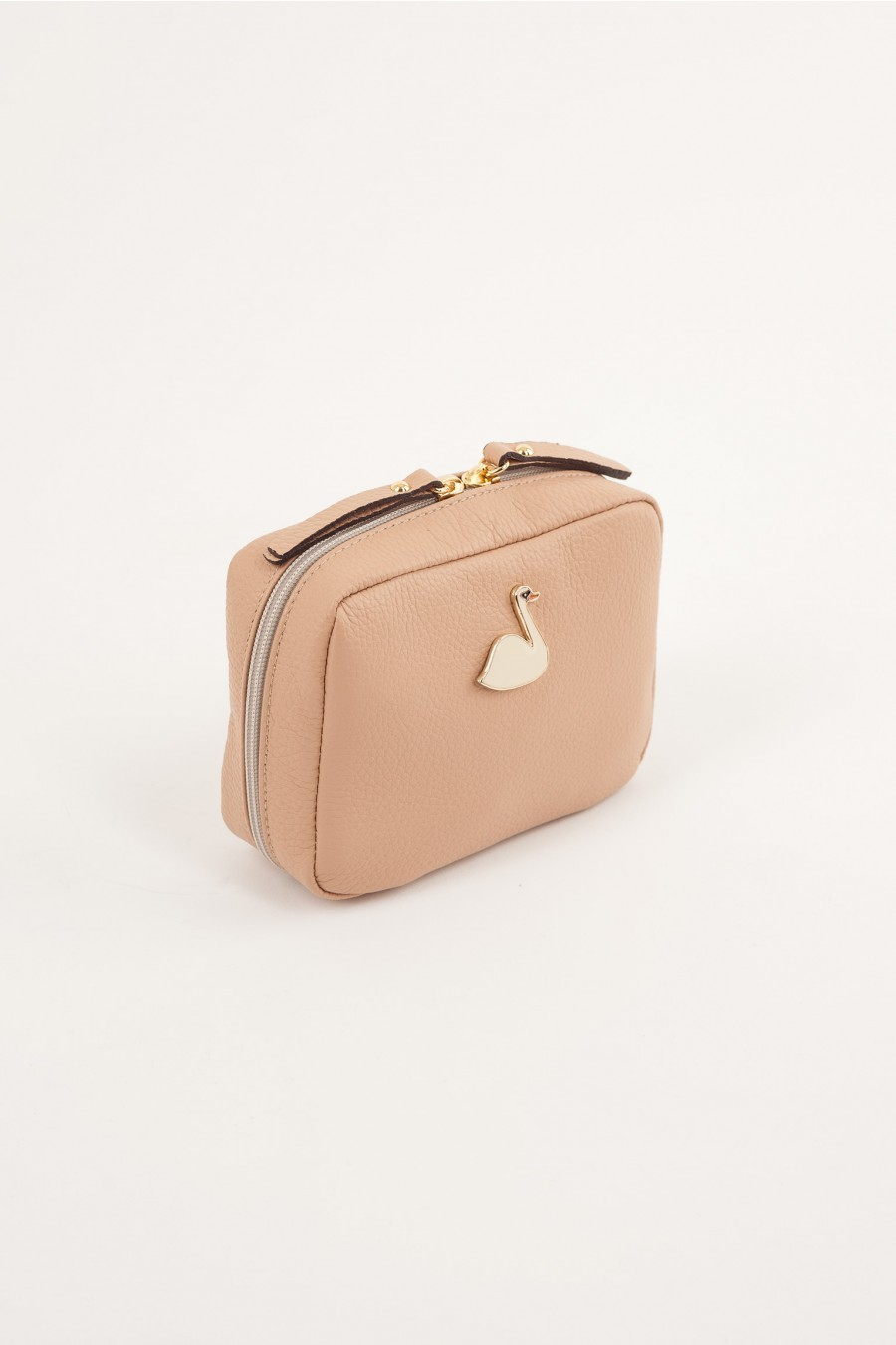 Pochette with swan pale pink Lazzari