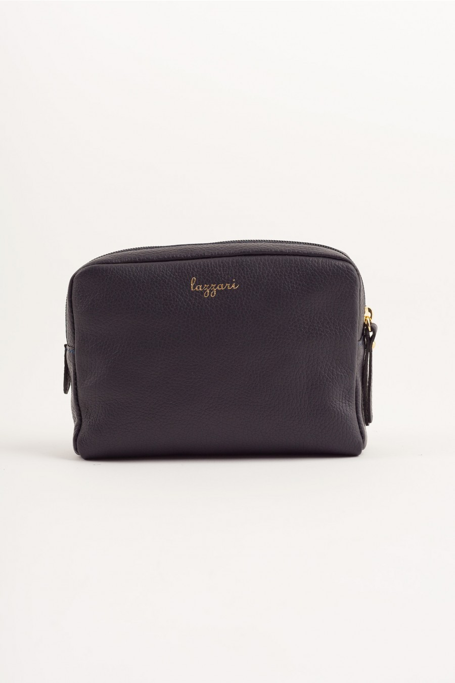Big pochette with enameled swan dark blue Lazzari
