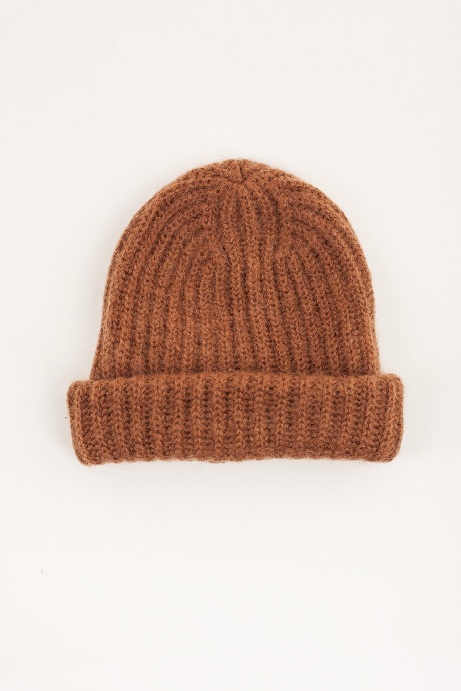 Hat with flap camel