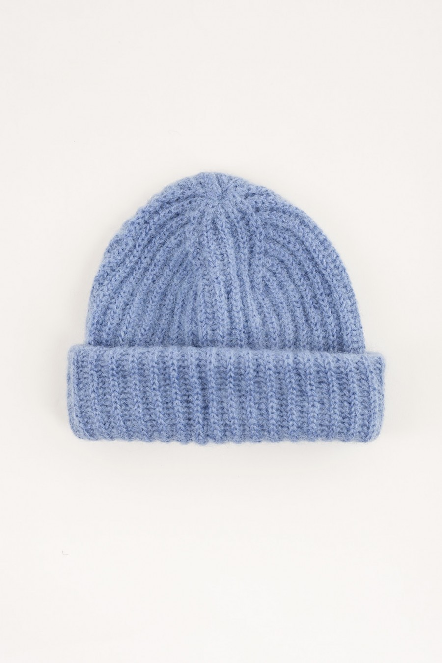 Hat with flap light blue