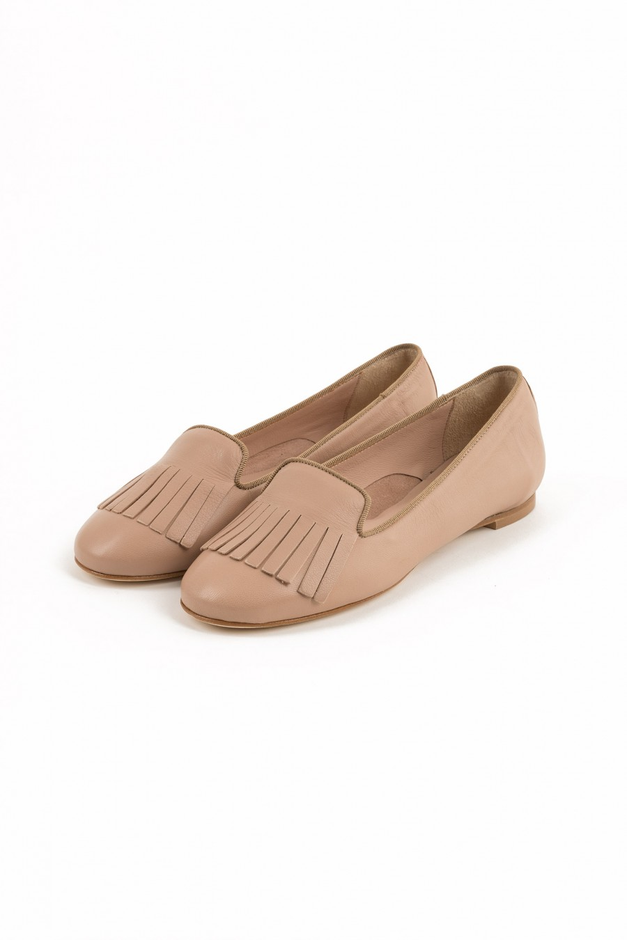Pale pink woman loafers