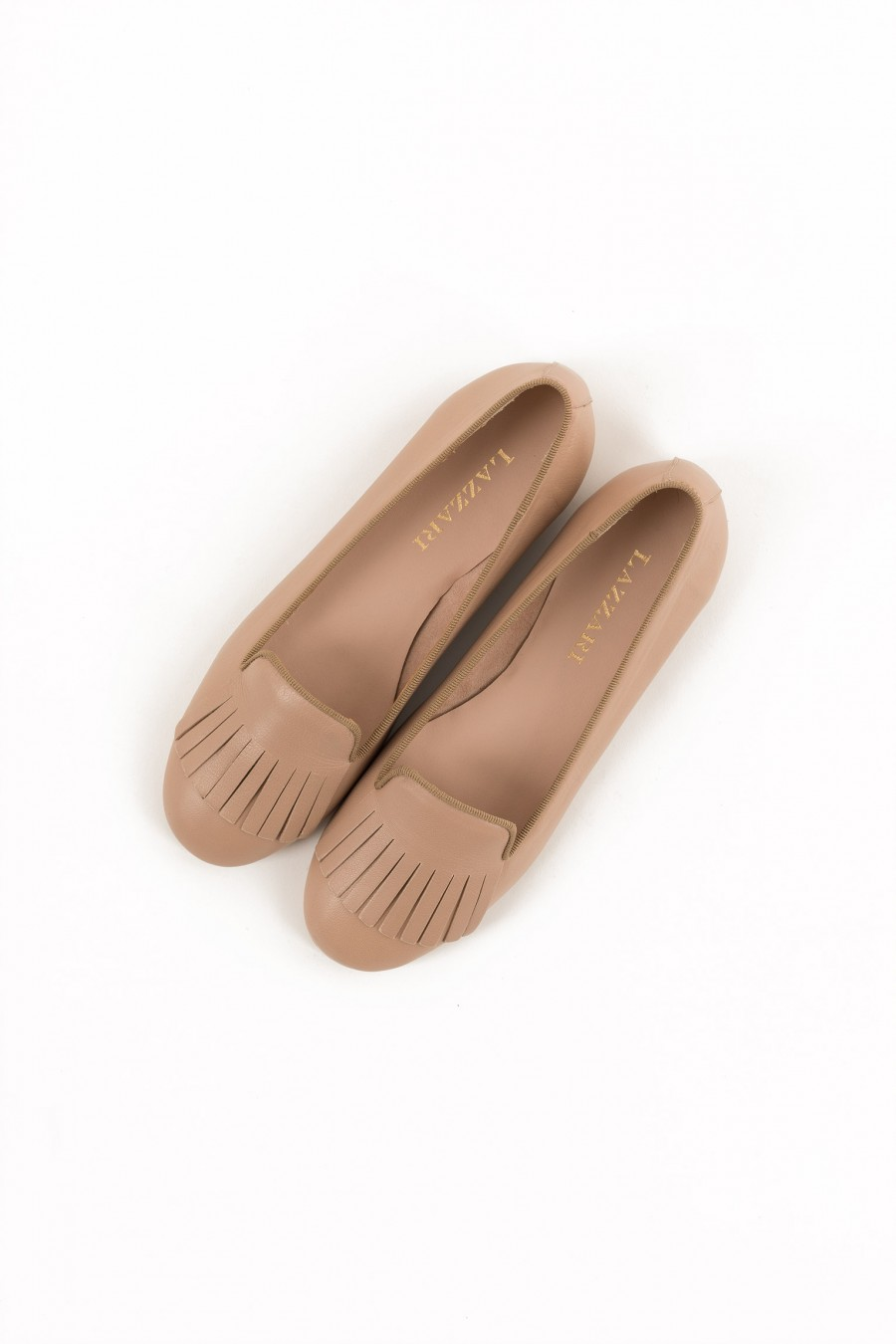 Pale pink summer flat shoes