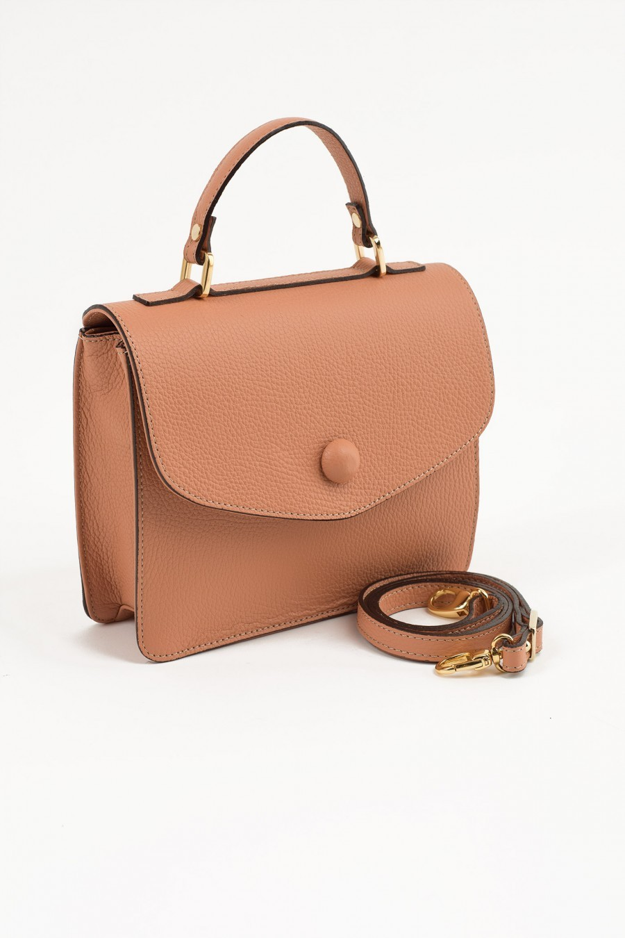 Borsa bauletto color pesca