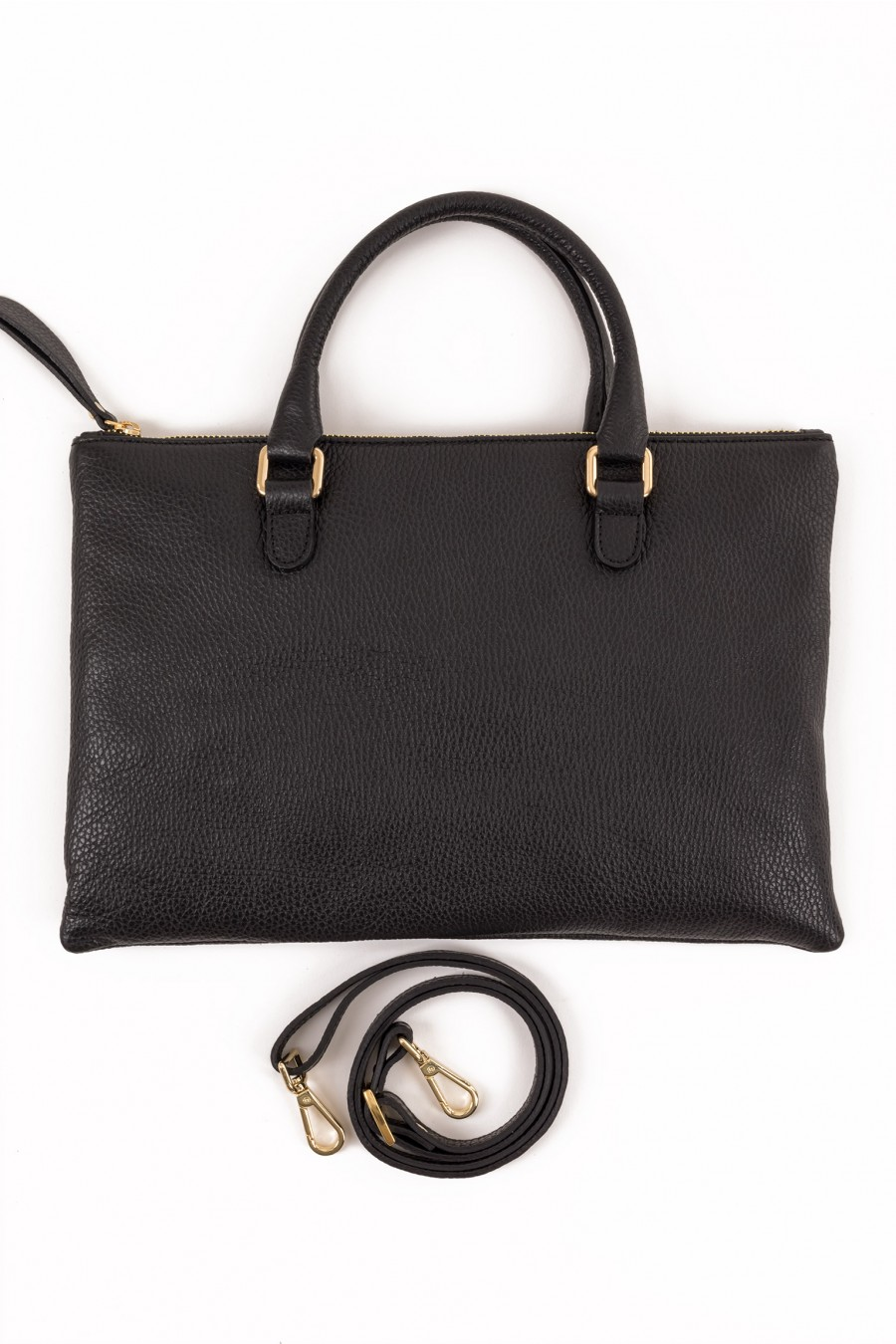 Flat mini bag with handles