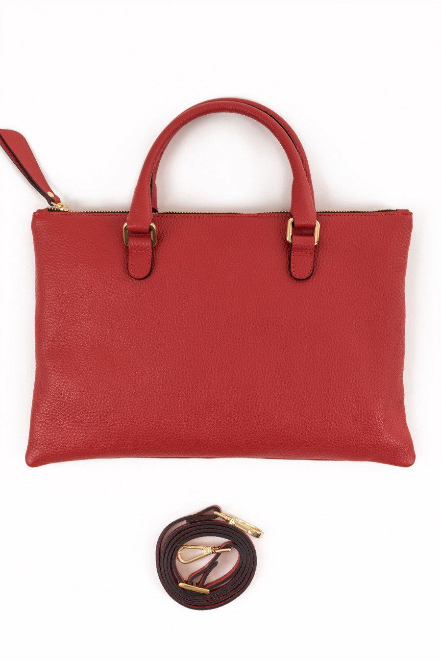 Red flat mini bag