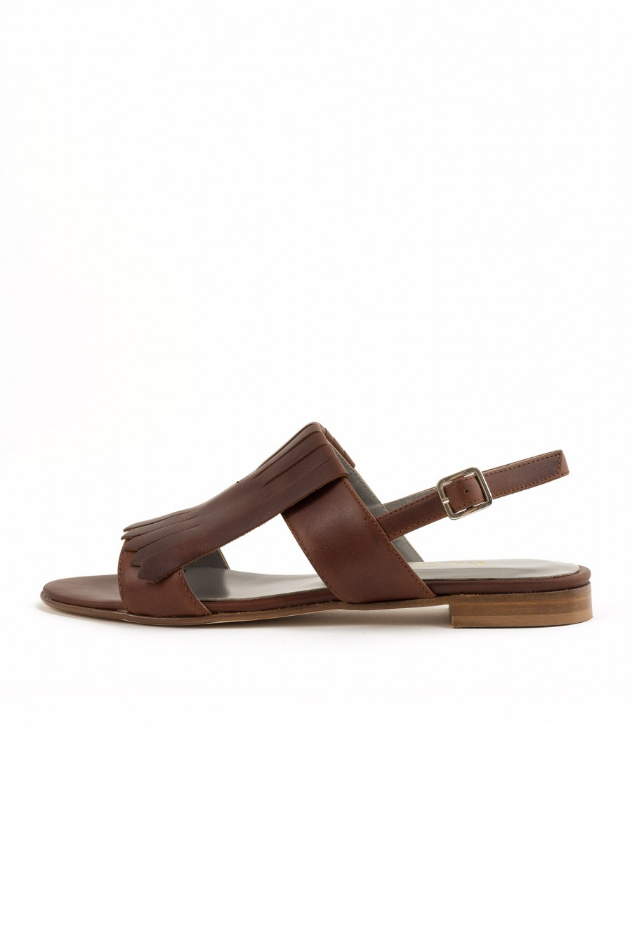 Brownsandal with fringes
