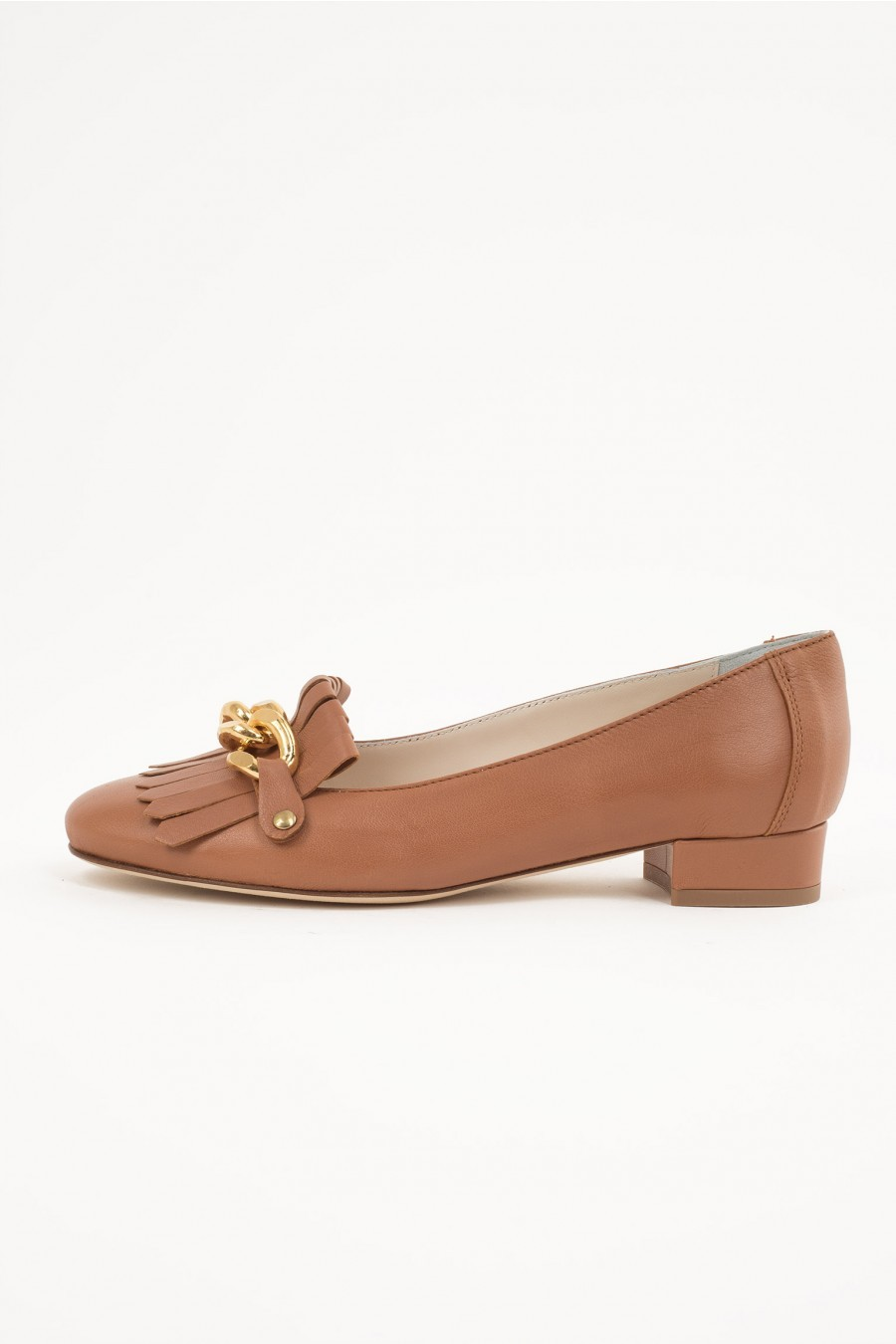 flat shoes gold detail
