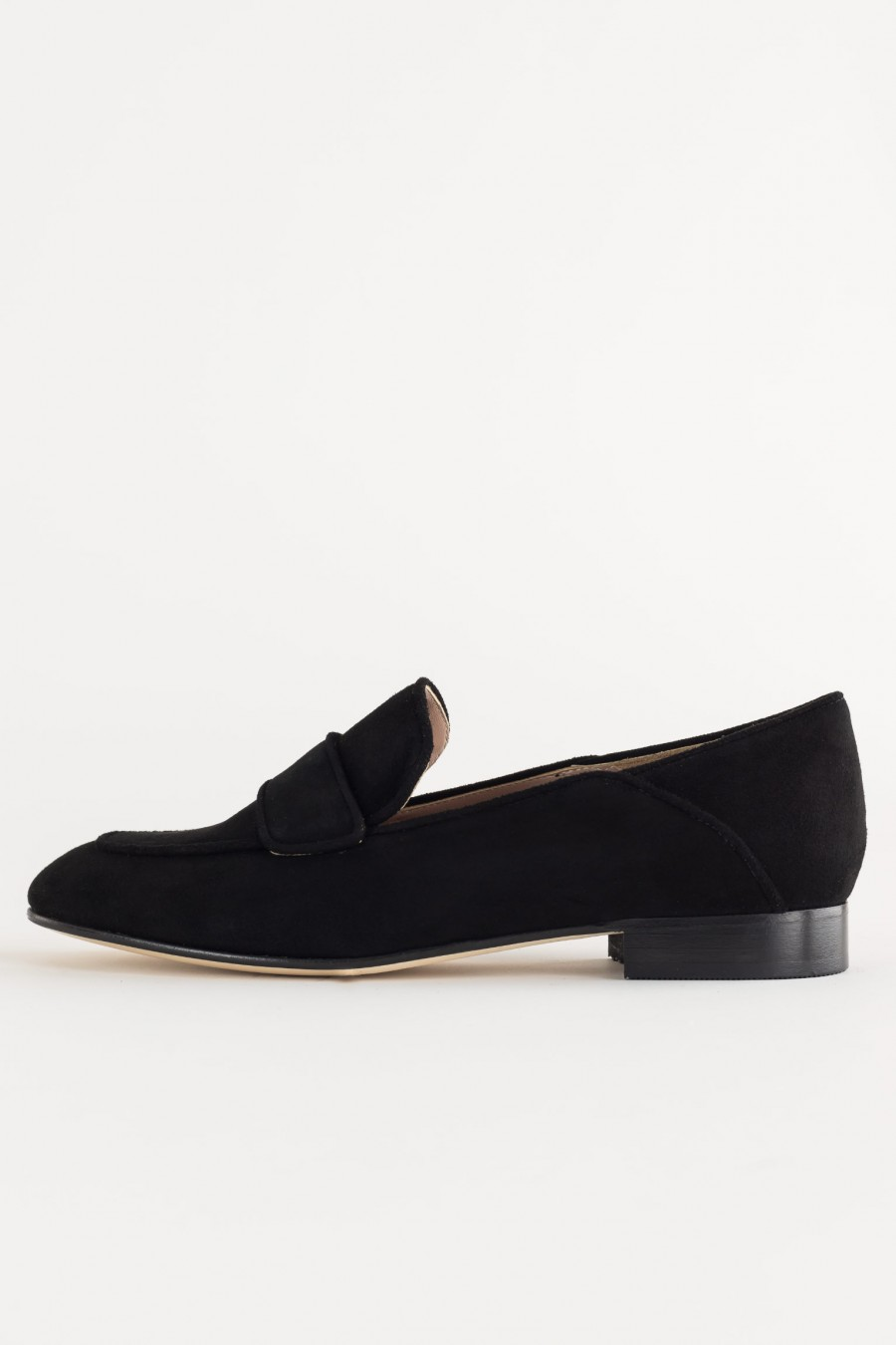 Lazzari black suede loafers