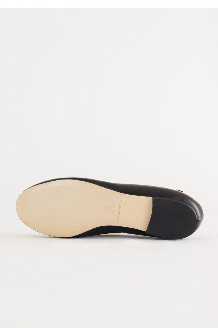 Leather soled flats