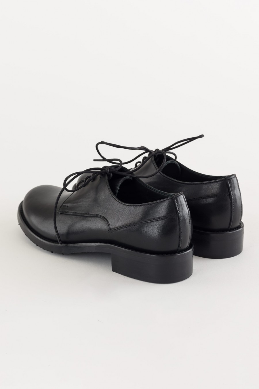 Black masculine cut shoes