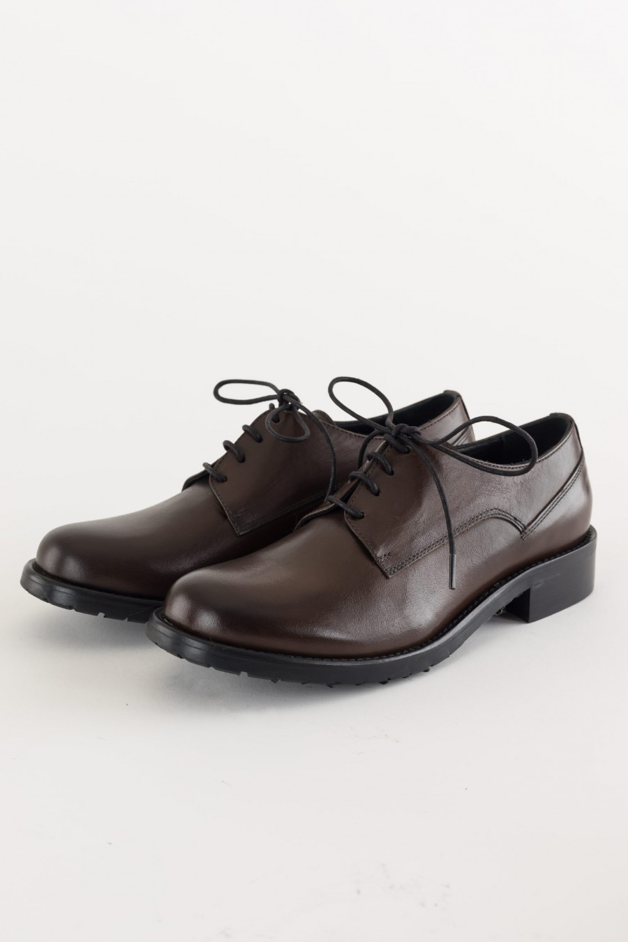 Deep brown lace ups