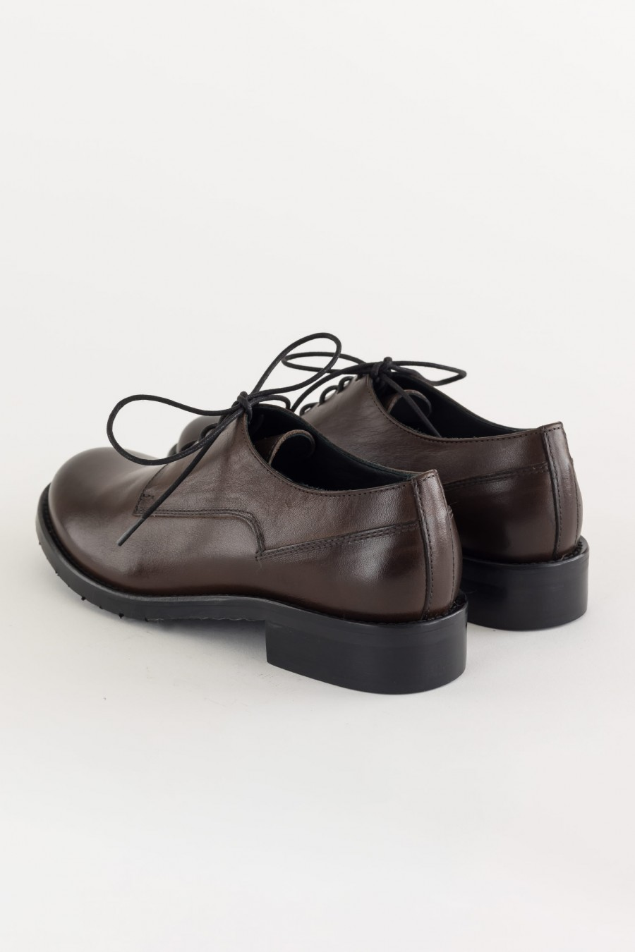 Dark brown lace ups