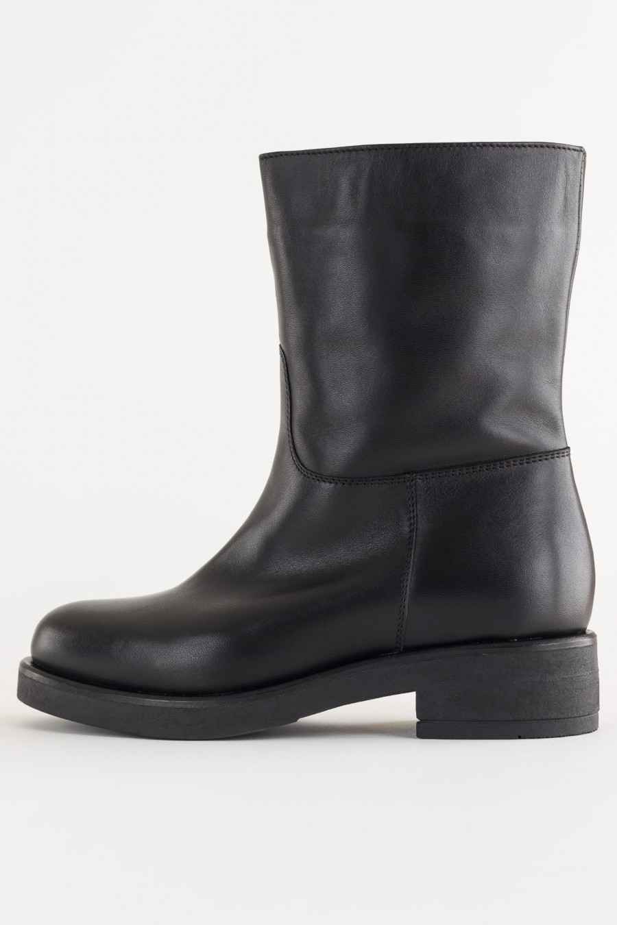 Soft leather biker boots