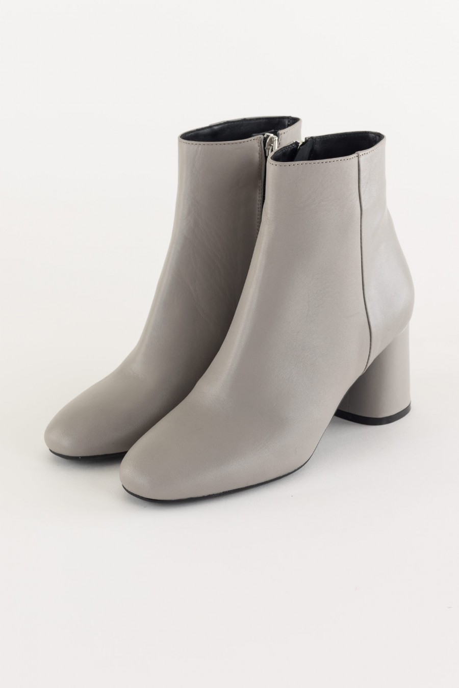 Ice gray ankle boots