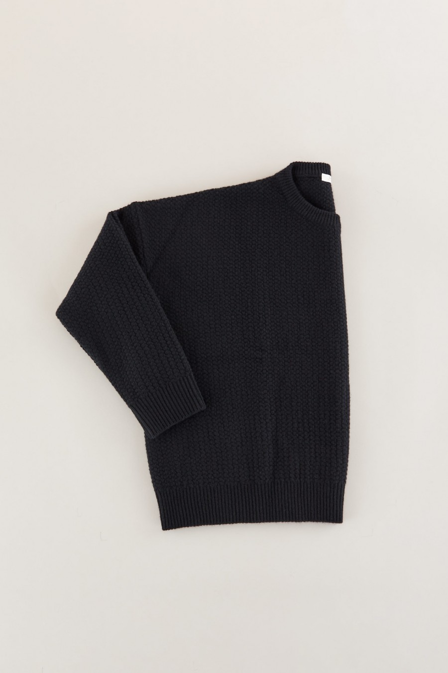 Black knitted wool jumper