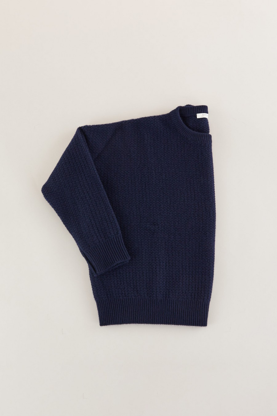 Blue knitted woolen jumper