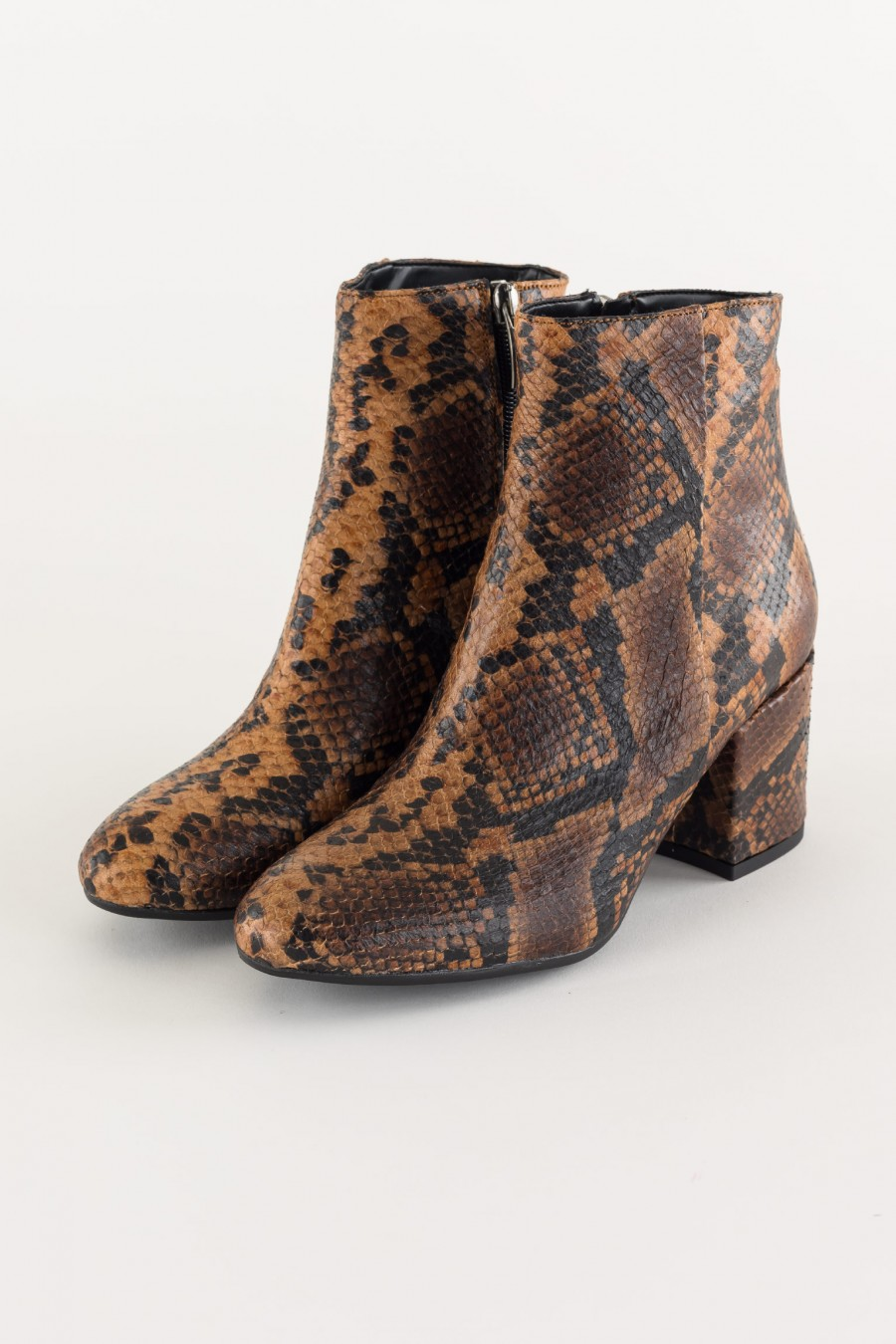 Python effect ankle boots