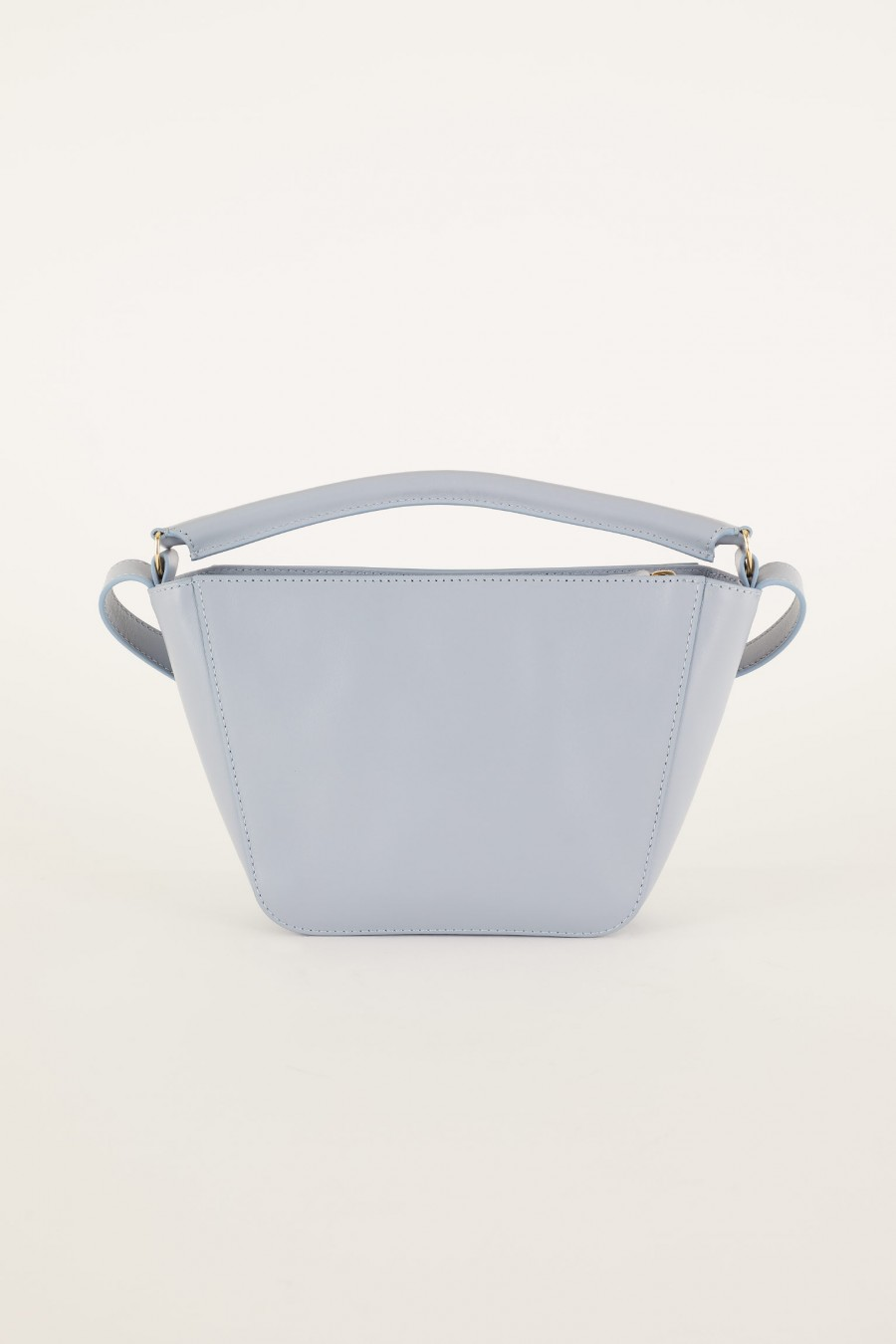 powder blue trapeze bag with handle