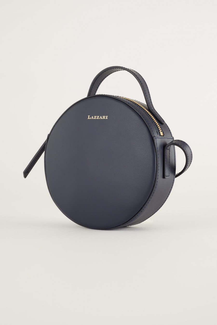 blue round shoulder bag