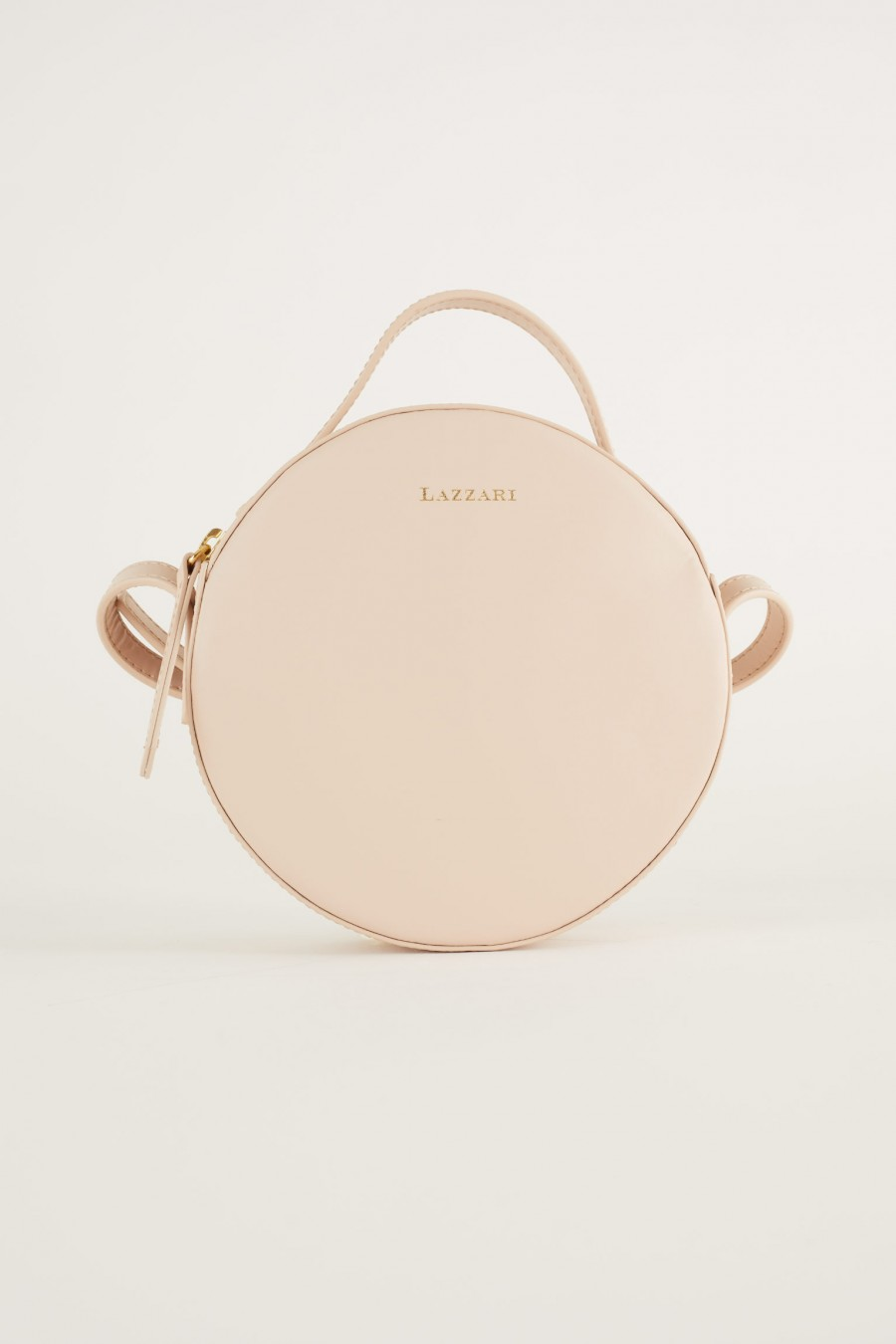 cute pink round shoulder bag