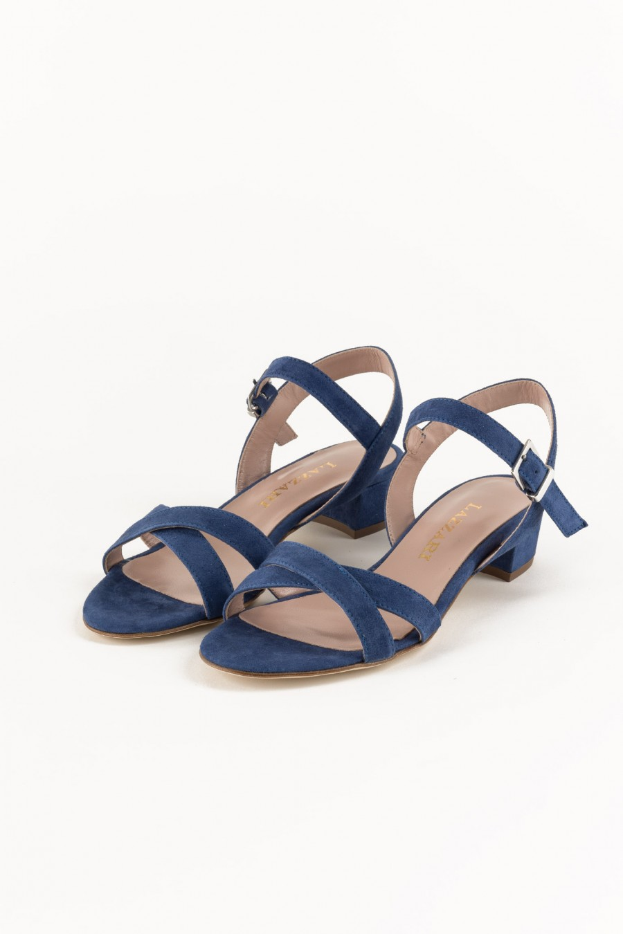 Blue sandals with lists