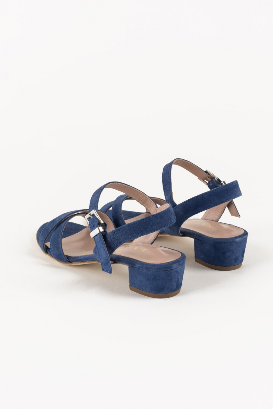 Denim sandals with lists