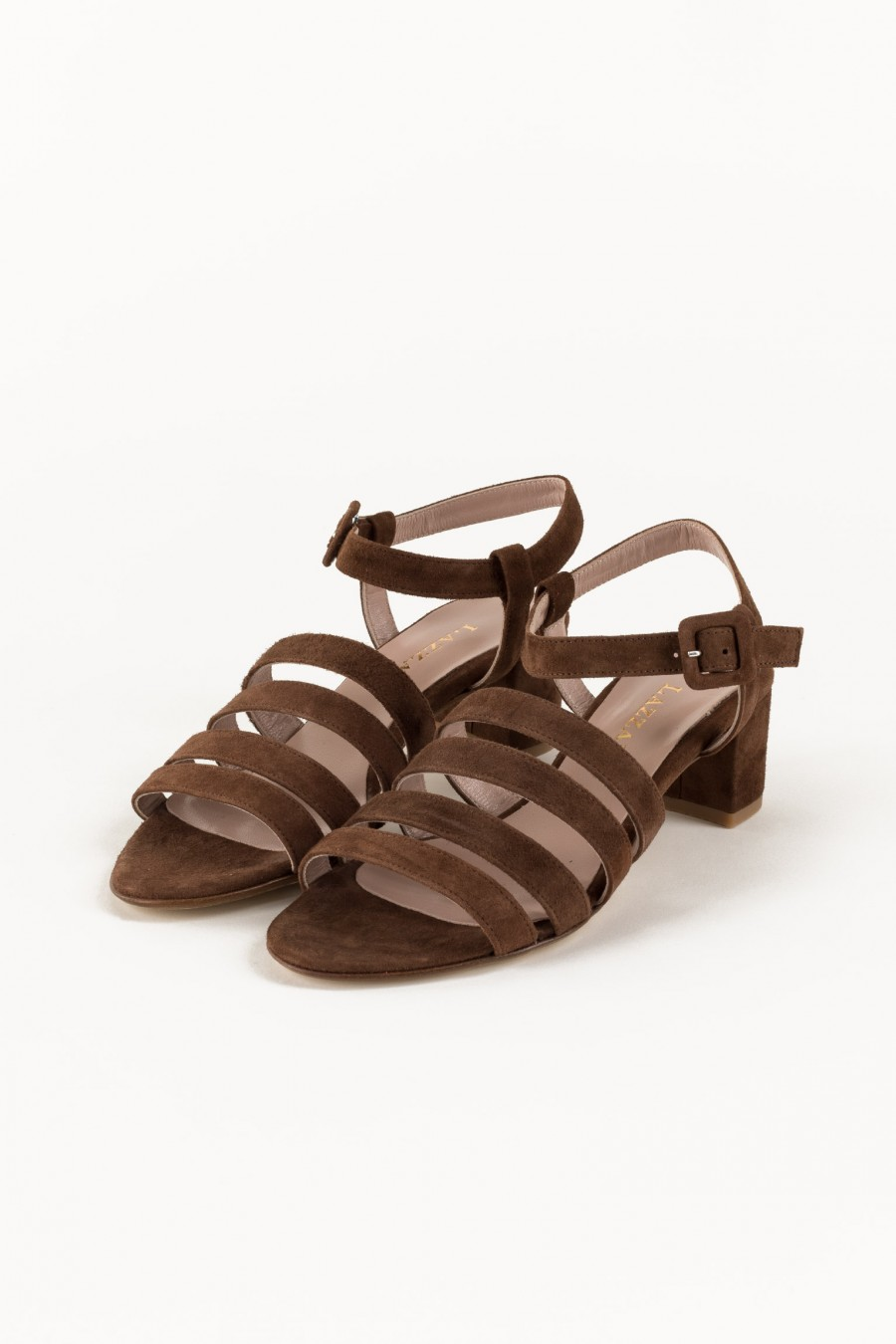 Suede brown sandals