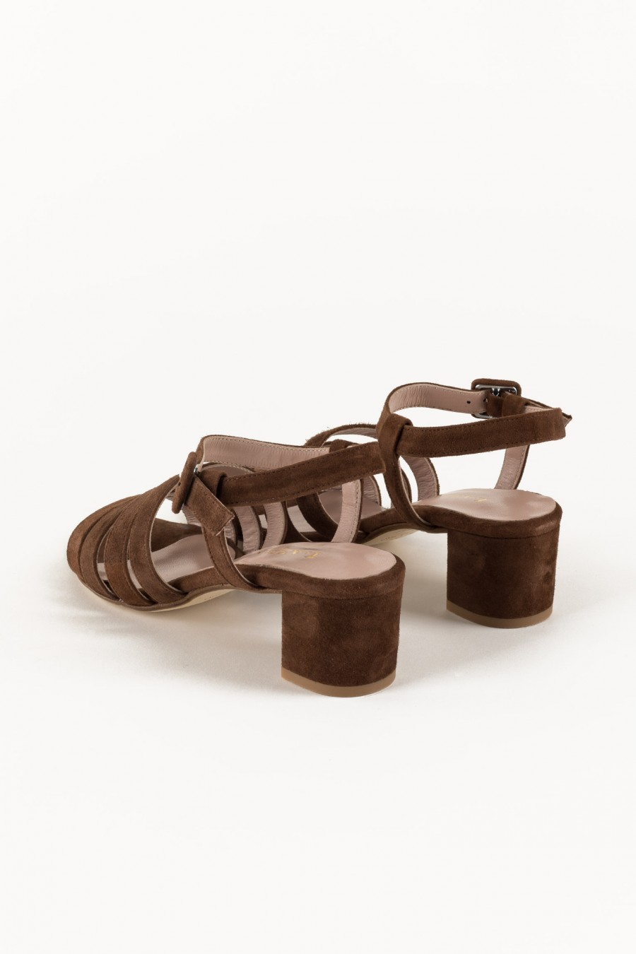 Brown sandals with list