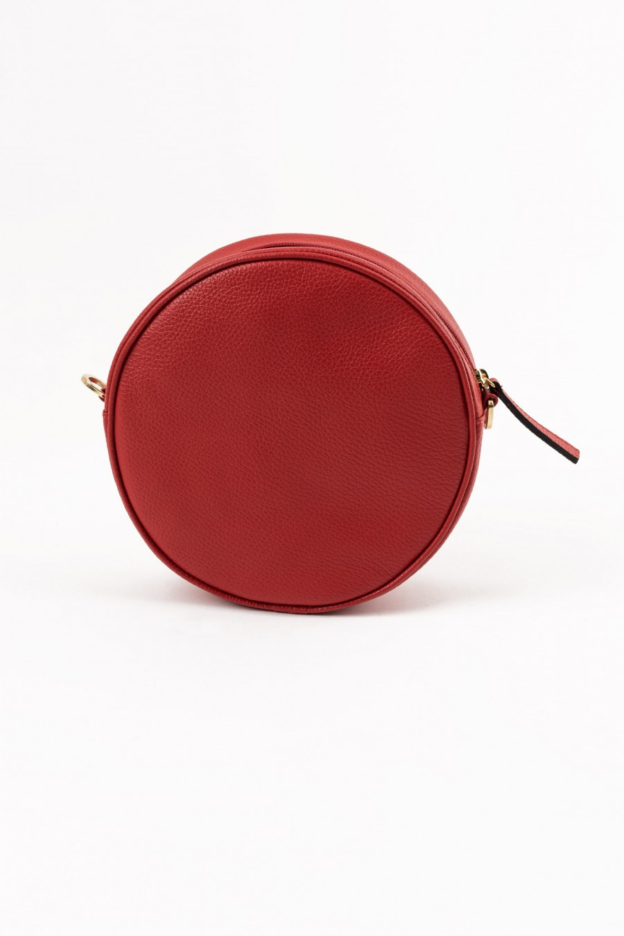 Genuine leather round bag