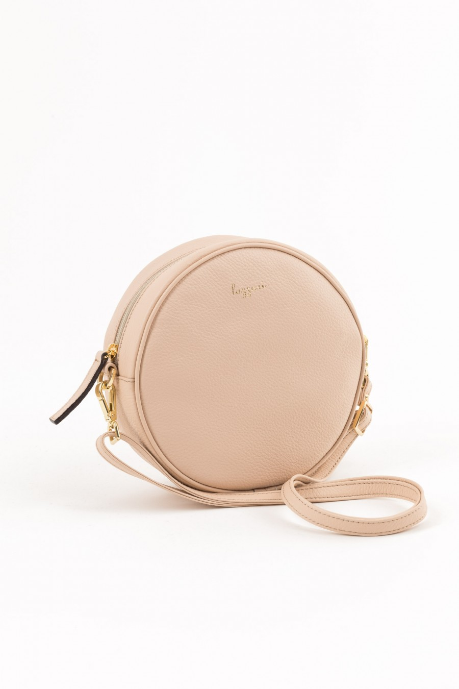 Powder pink round bag