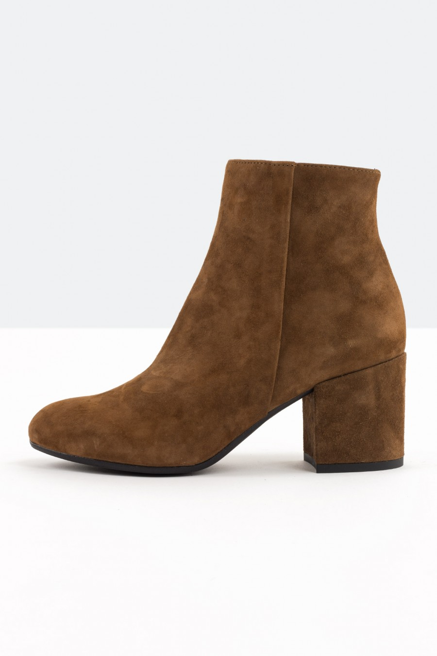 Low heeled tobacco ankle boots
