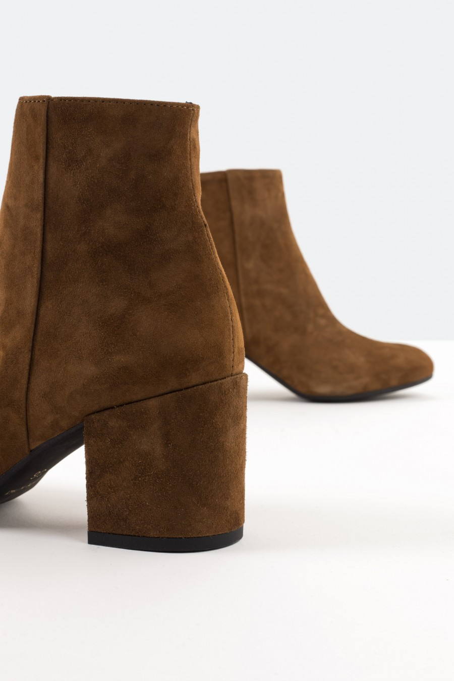 Low heeled brown ankle boots
