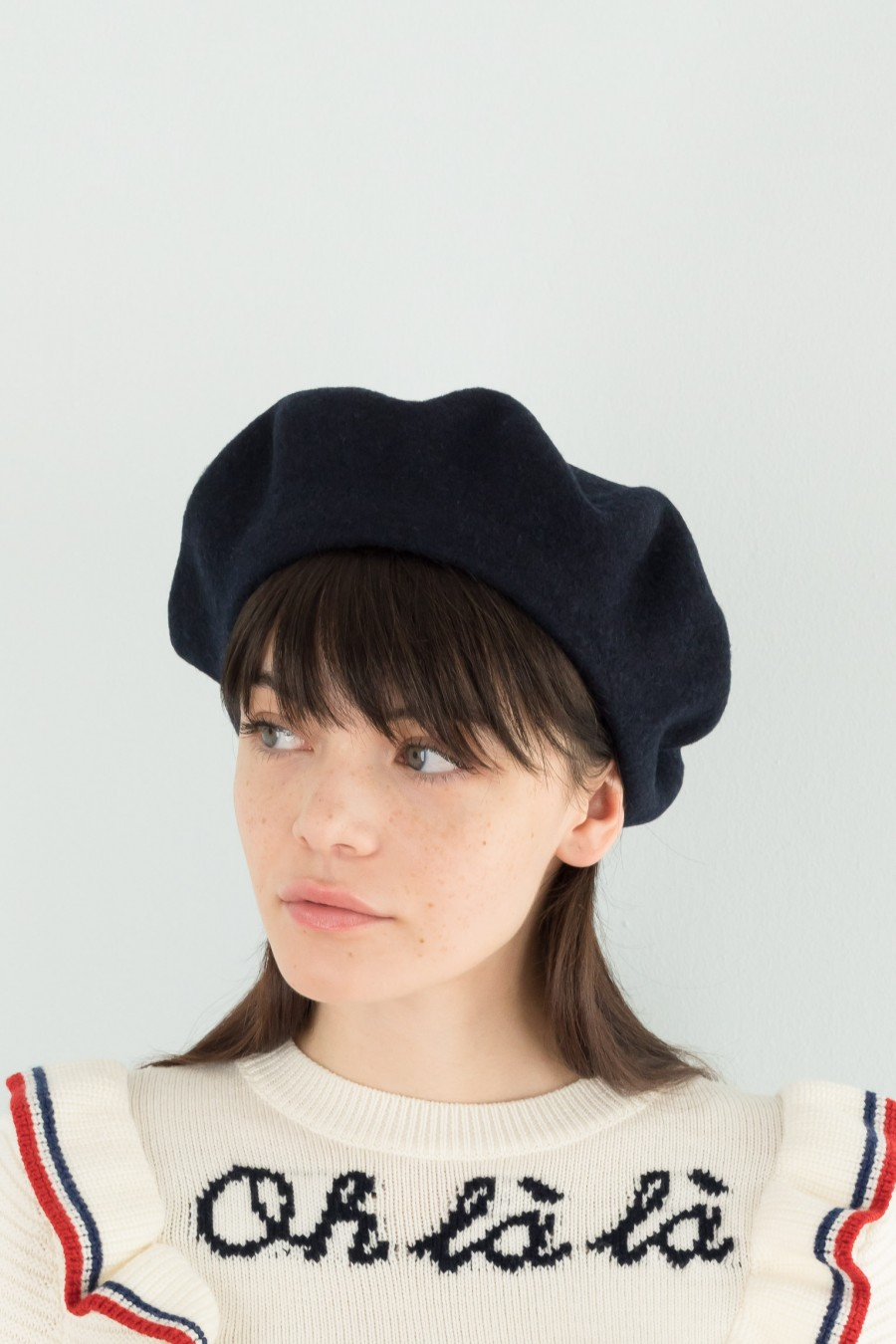 Blue Lined French beret