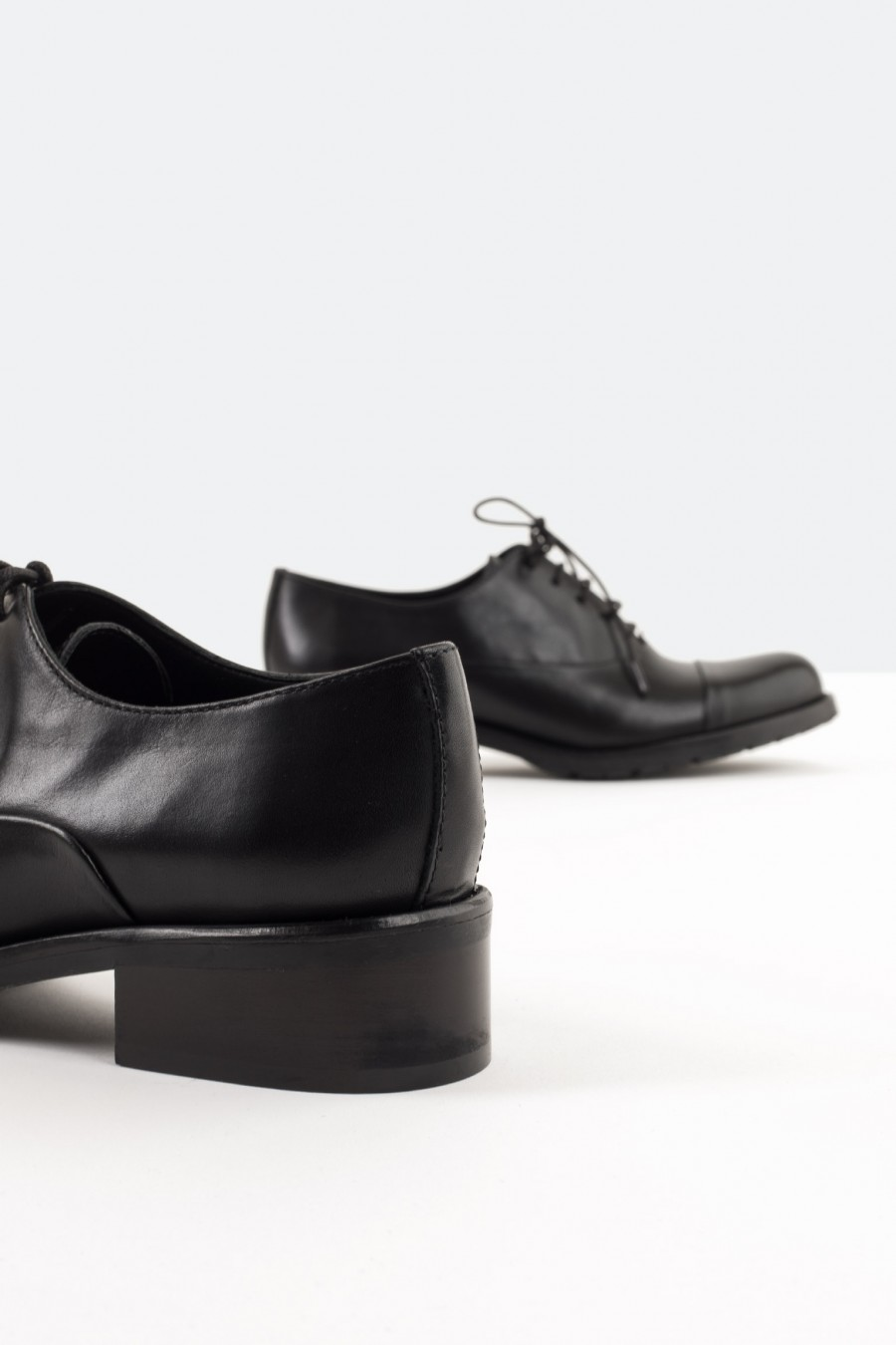 Italian leather derby shoes