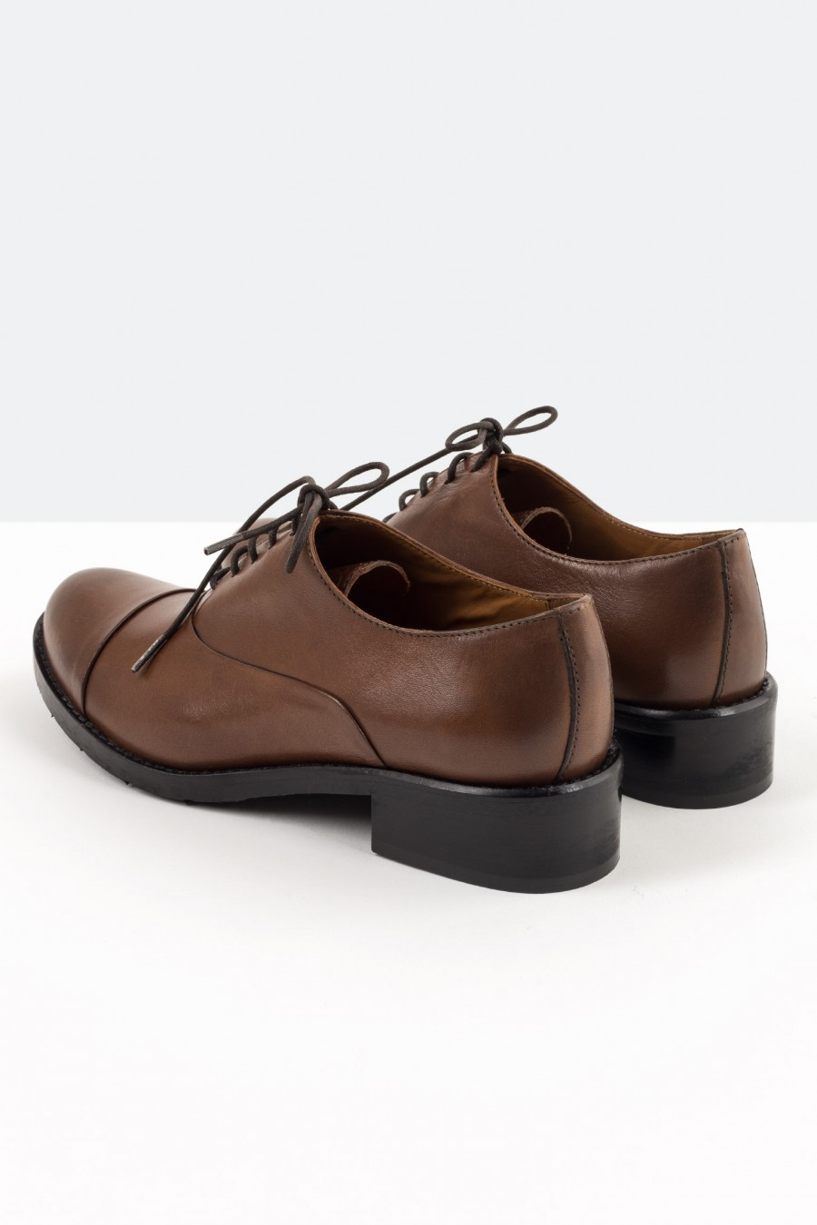Brown leather Lazzari derby shoes
