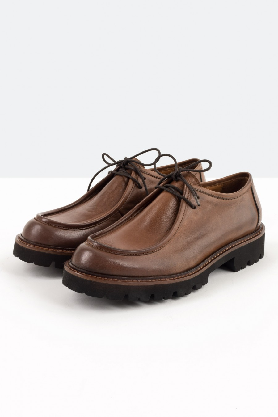 Tobacco brown loafers