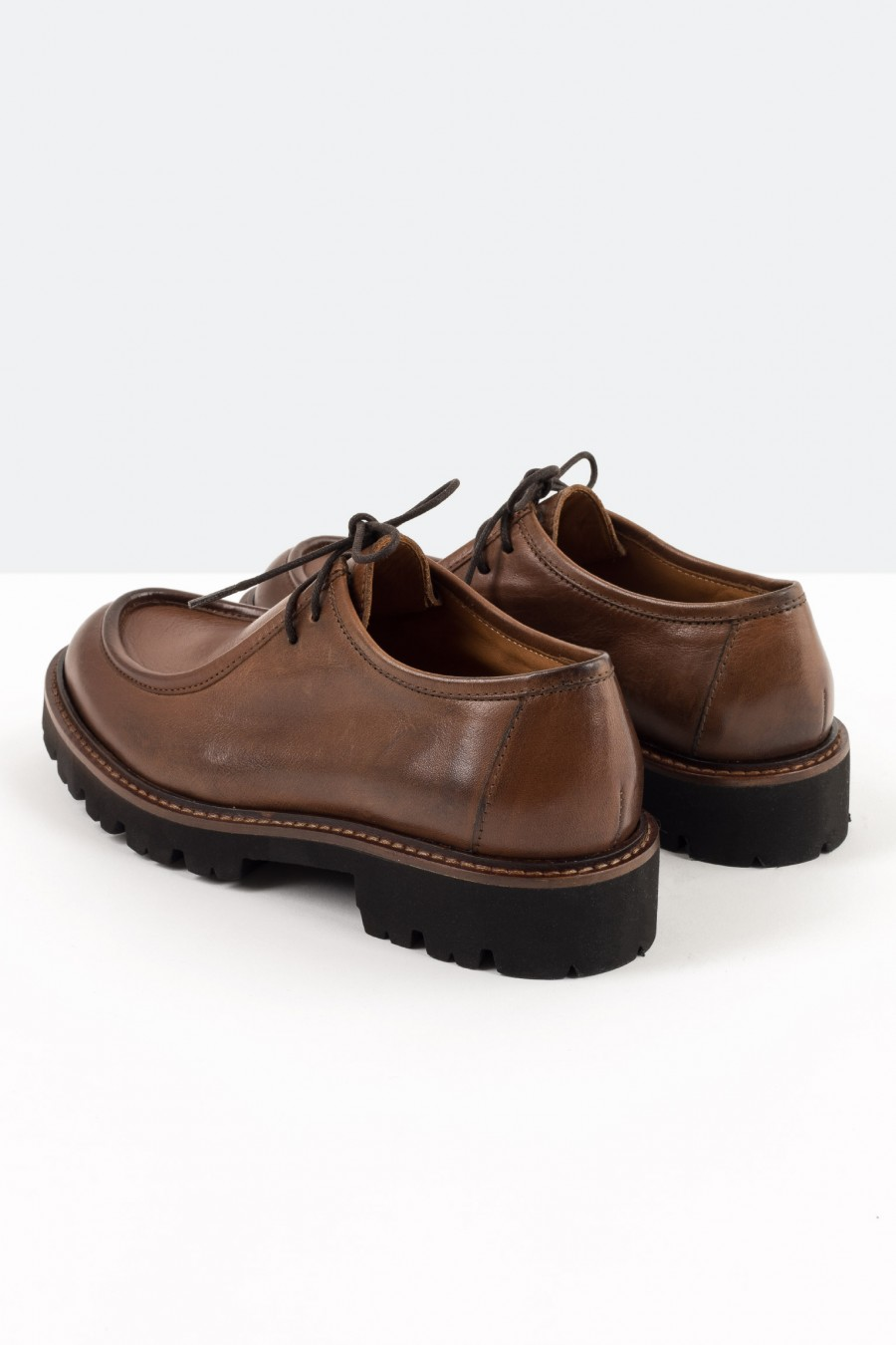 Engineer loafers with cleated sole