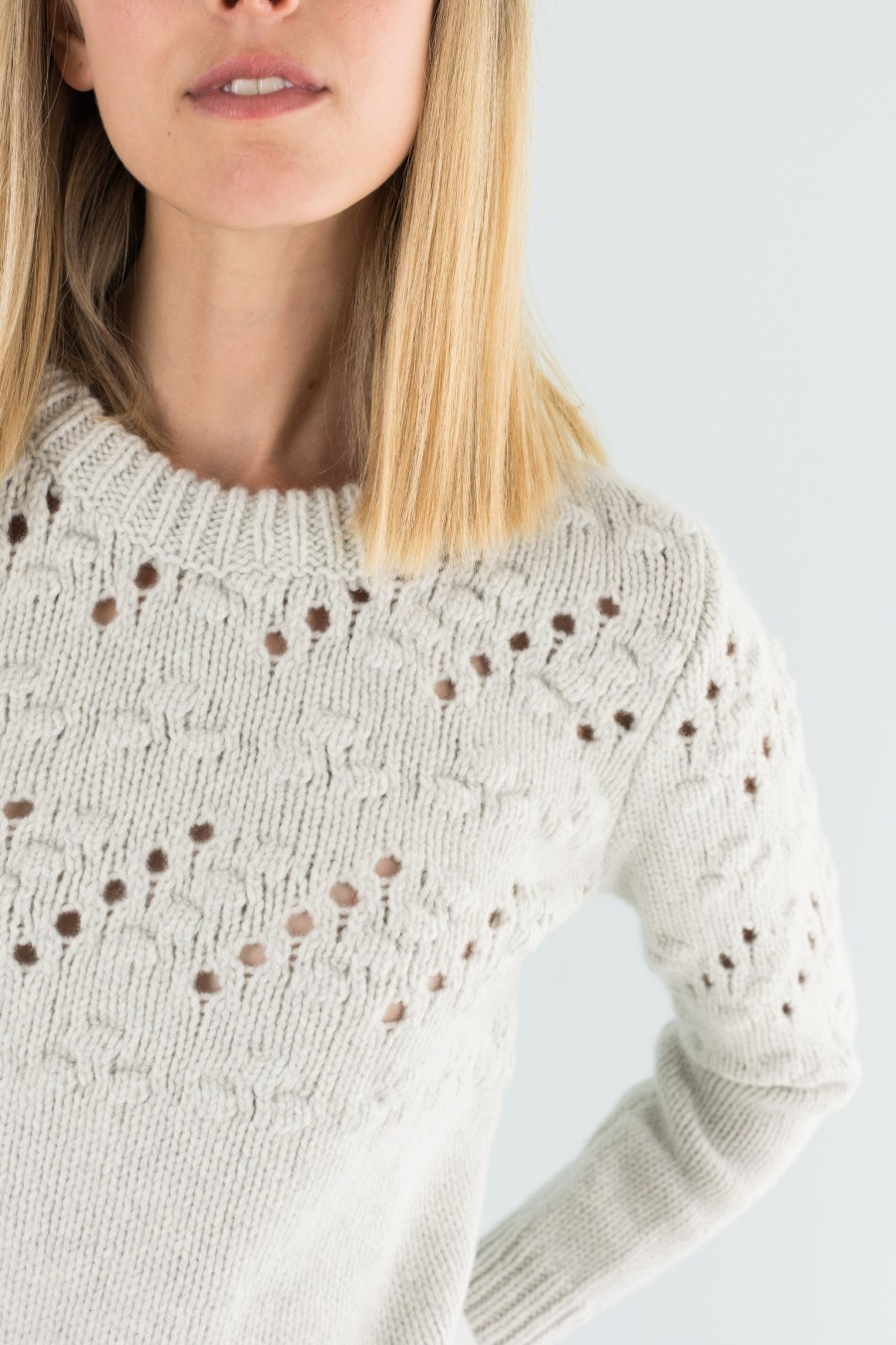Ice colored woolen jumper